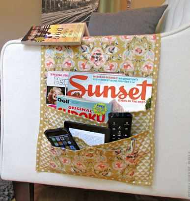 Armchair sofa caddy with pockets free sewing pattern