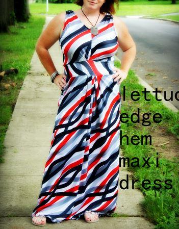 Sleeveless women's maxi dress sewing pattern