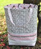 Easy 1 hour tote bag pattern, structured with flat bottom