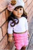 Free doll dress sewing pattern with ruffled skirt - American Girl 18 inch
