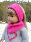 Free sewing pattern for doll ear and neck warmers (18 inch American Girl)