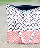 Easy flat bottom structured tote bag pattern - free tutorial