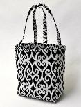 Easy tote bag pattern, structured with flat bottom - free tutorial