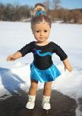 Free sewing pattern for a doll skating dress - 18 inch American Girl