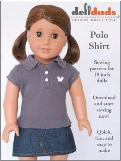 Free sewing pattern for a doll polo shirt (18 inch American Girl)